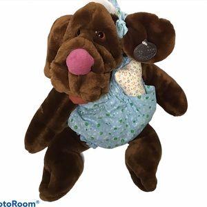 Vintage 1981 Wrinkles dog puppet